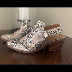 Snakeskin Slingback Shoes